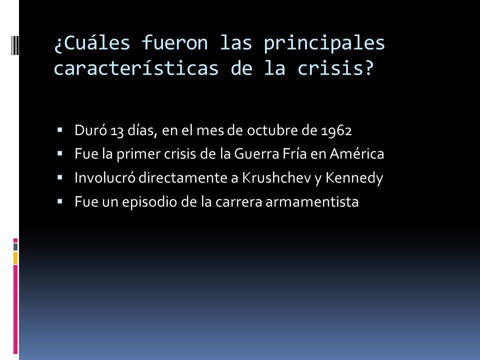 ¿Cuáles fueron las principales características de la crisis
