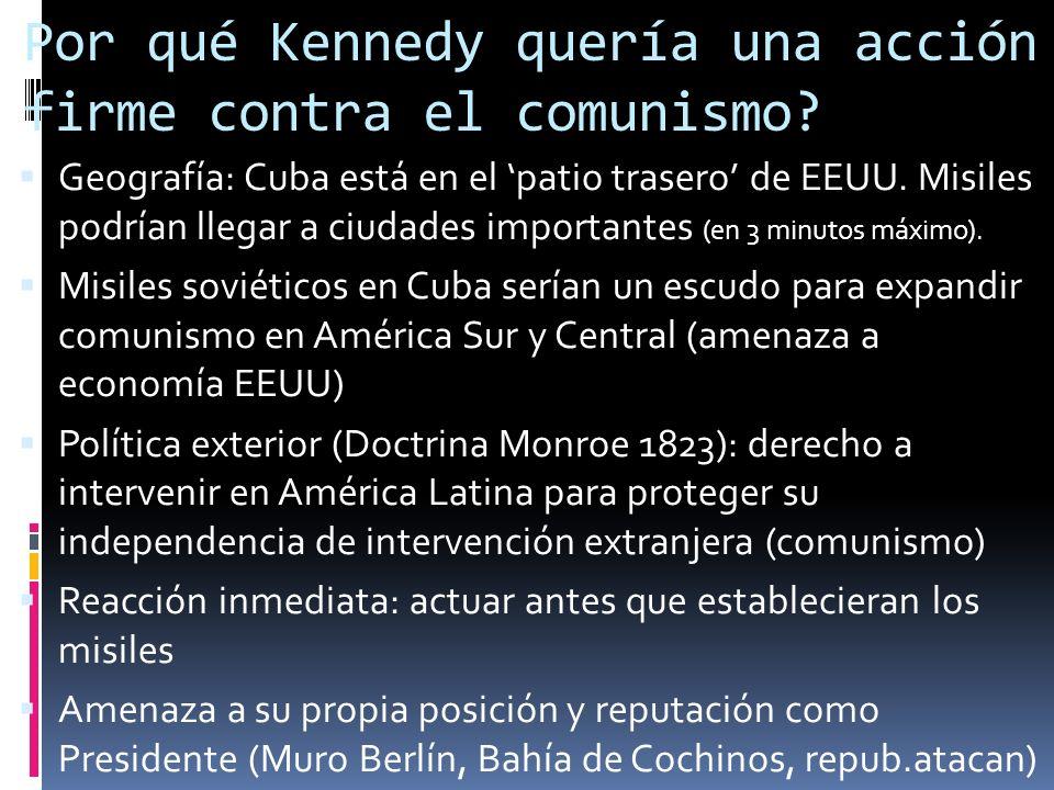 Por qué Kennedy quería una acción firme contra el comunismo