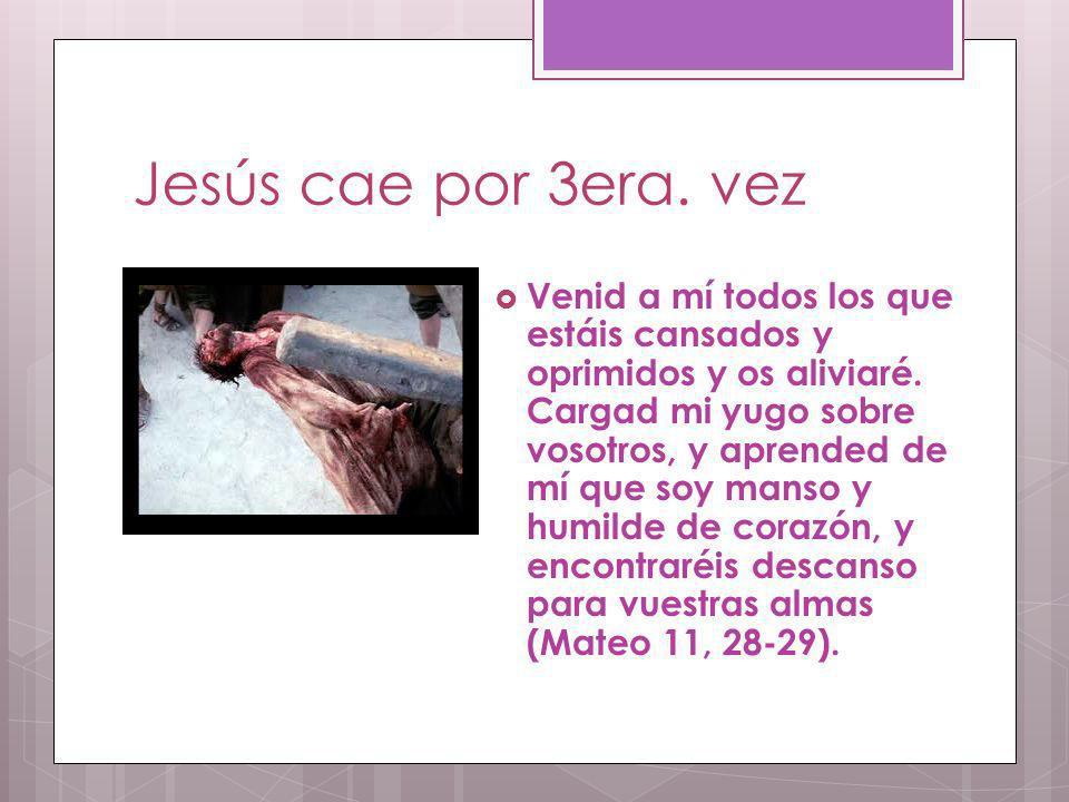 Jesús cae por 3era. vez