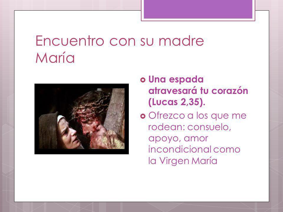 Encuentro con su madre María