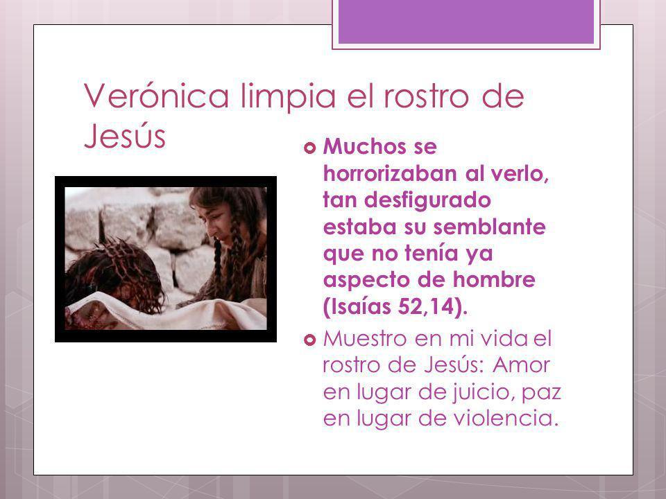 Verónica limpia el rostro de Jesús