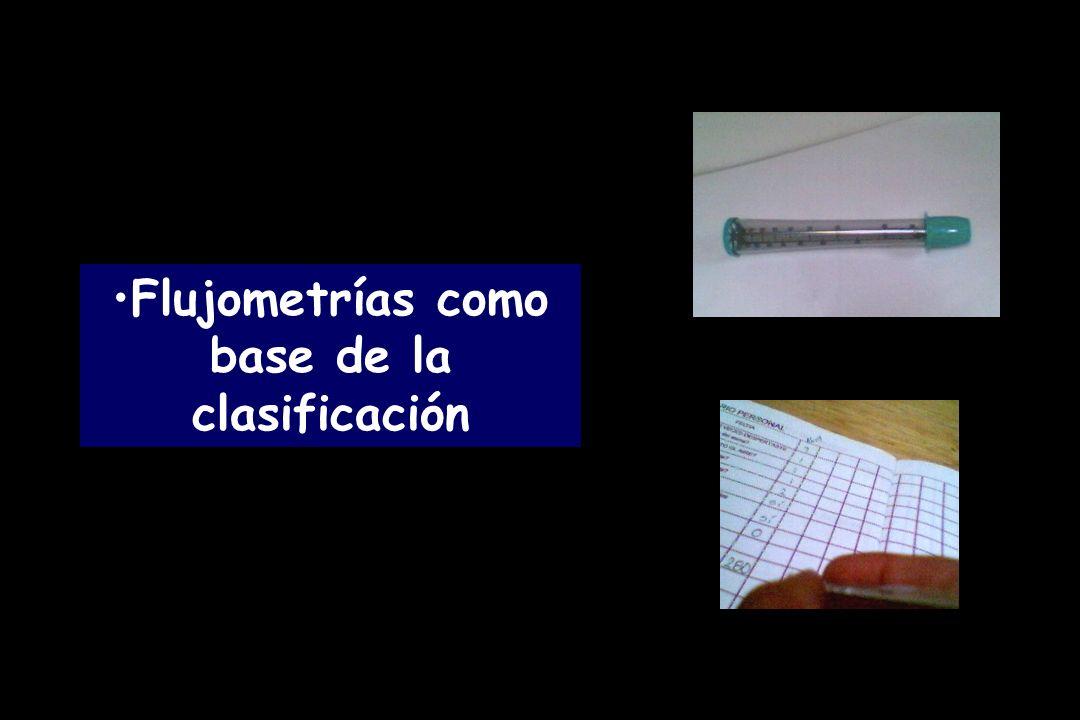 Flujometrías como base de la clasificación