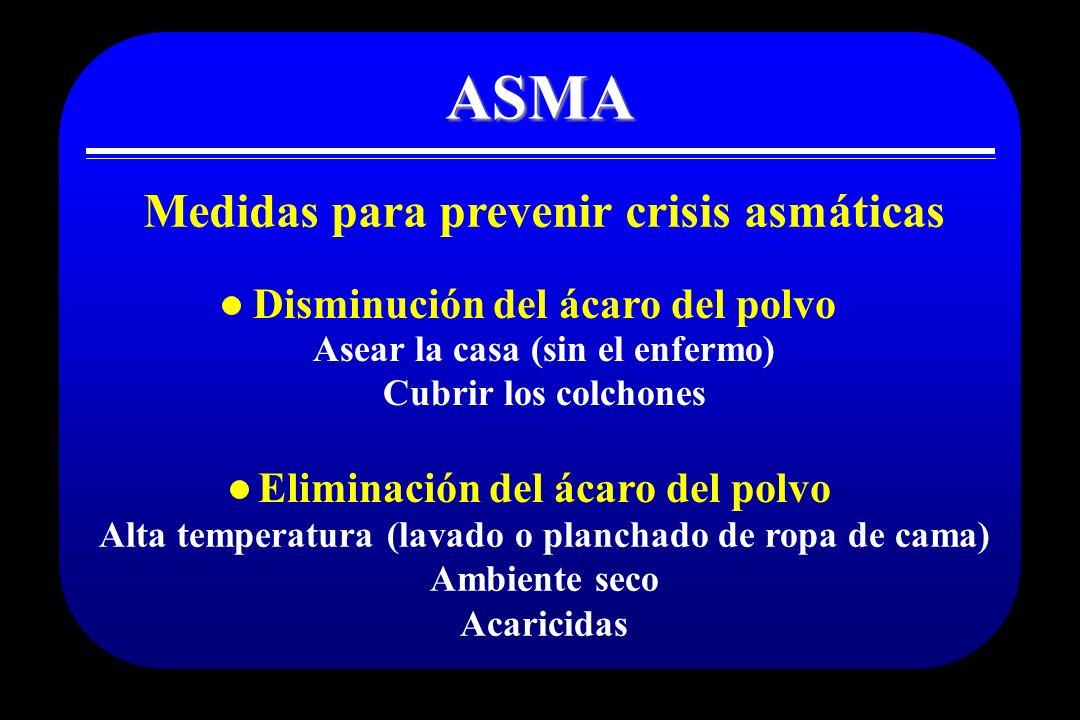 ASMA Medidas para prevenir crisis asmáticas