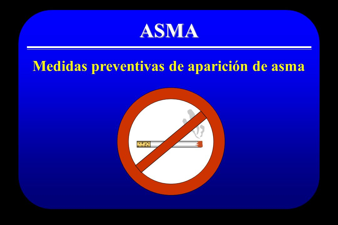 Medidas preventivas de aparición de asma