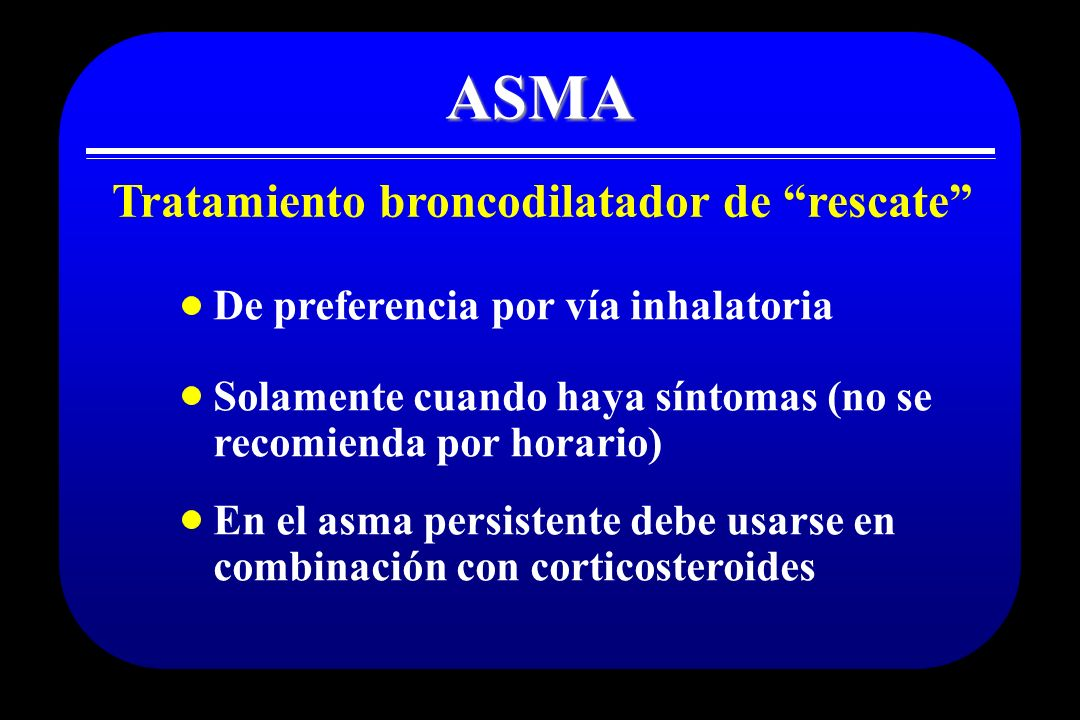 Tratamiento broncodilatador de rescate