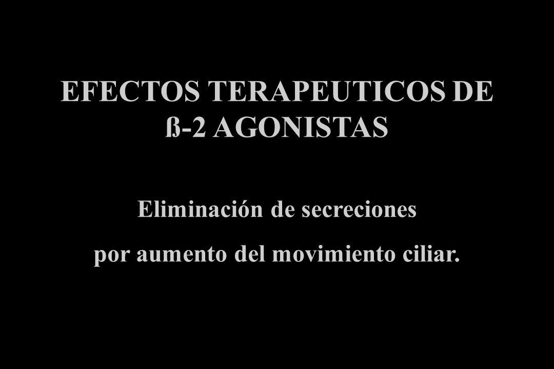 EFECTOS TERAPEUTICOS DE ß-2 AGONISTAS