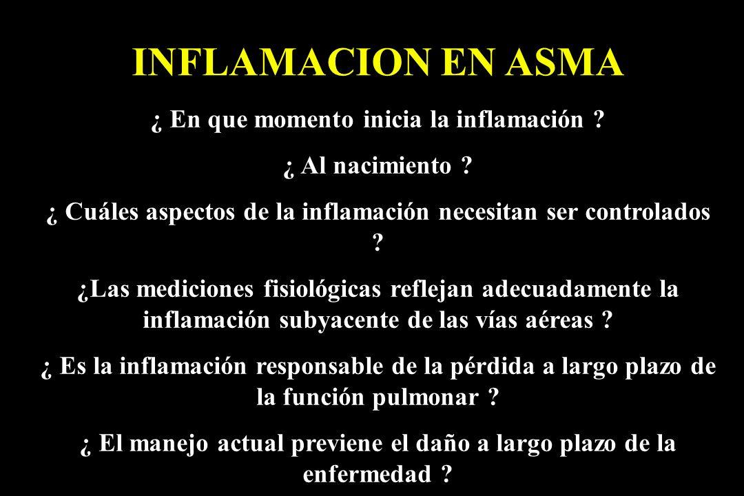 INFLAMACION EN ASMA ¿ En que momento inicia la inflamación