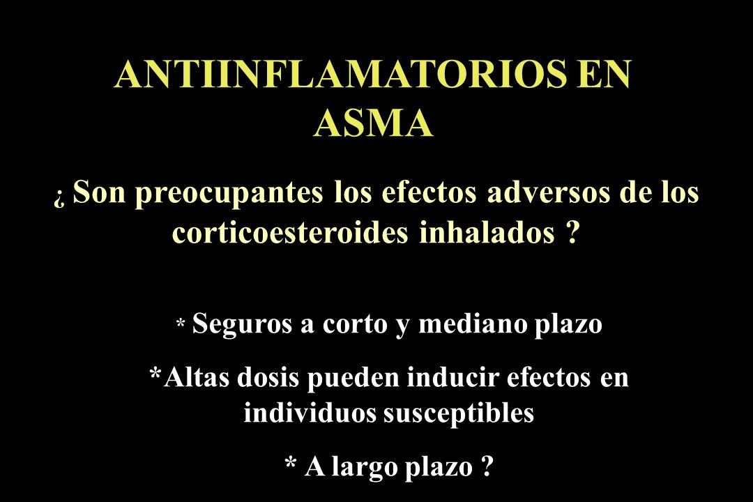 ANTIINFLAMATORIOS EN ASMA