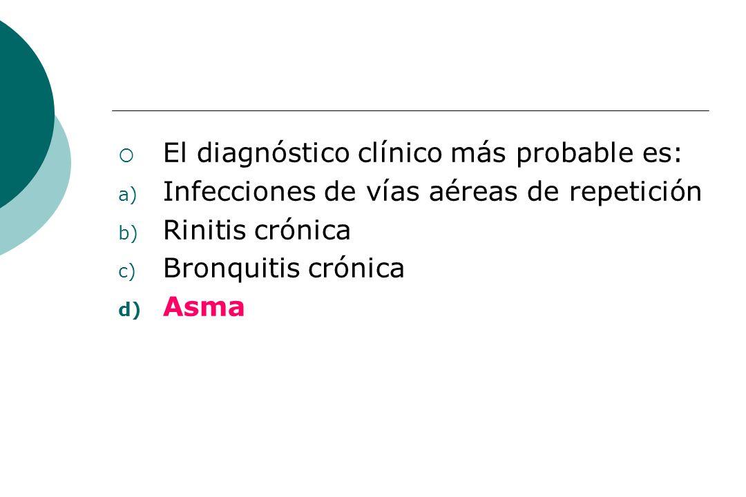 El diagnóstico clínico más probable es: