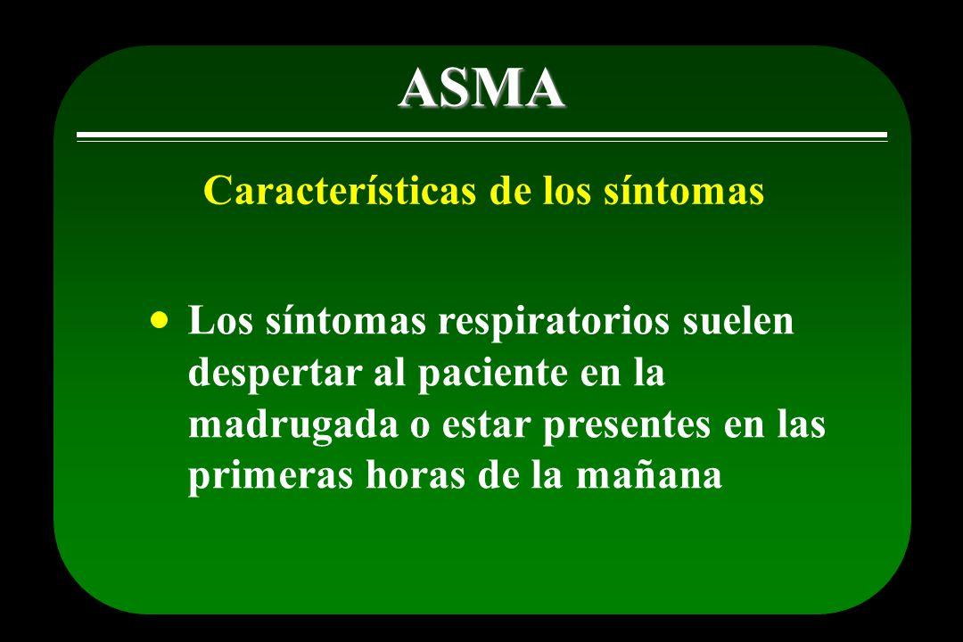ASMA Características de los síntomas