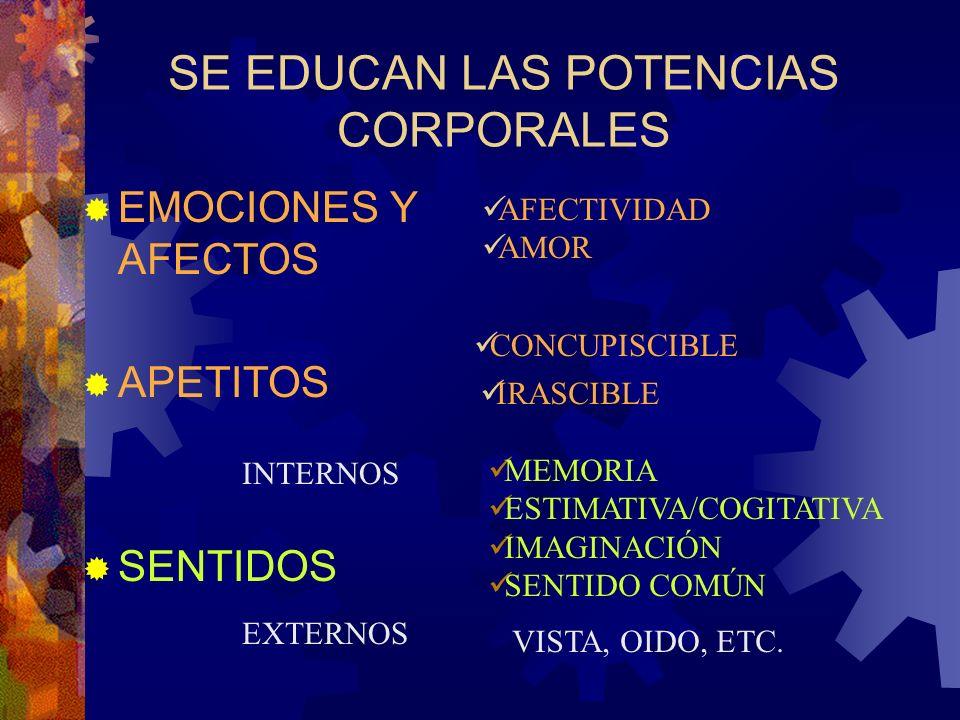 SE EDUCAN LAS POTENCIAS CORPORALES