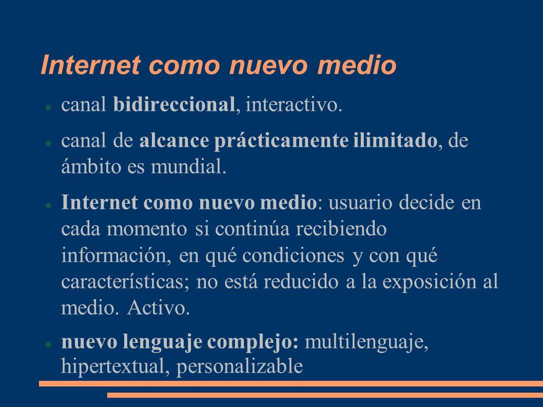 Internet como nuevo medio