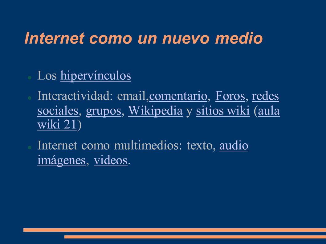 Internet como un nuevo medio