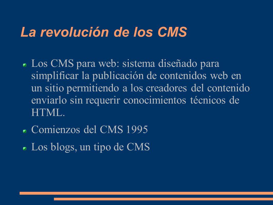 La revolución de los CMS