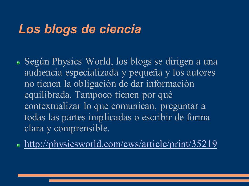 Los blogs de ciencia