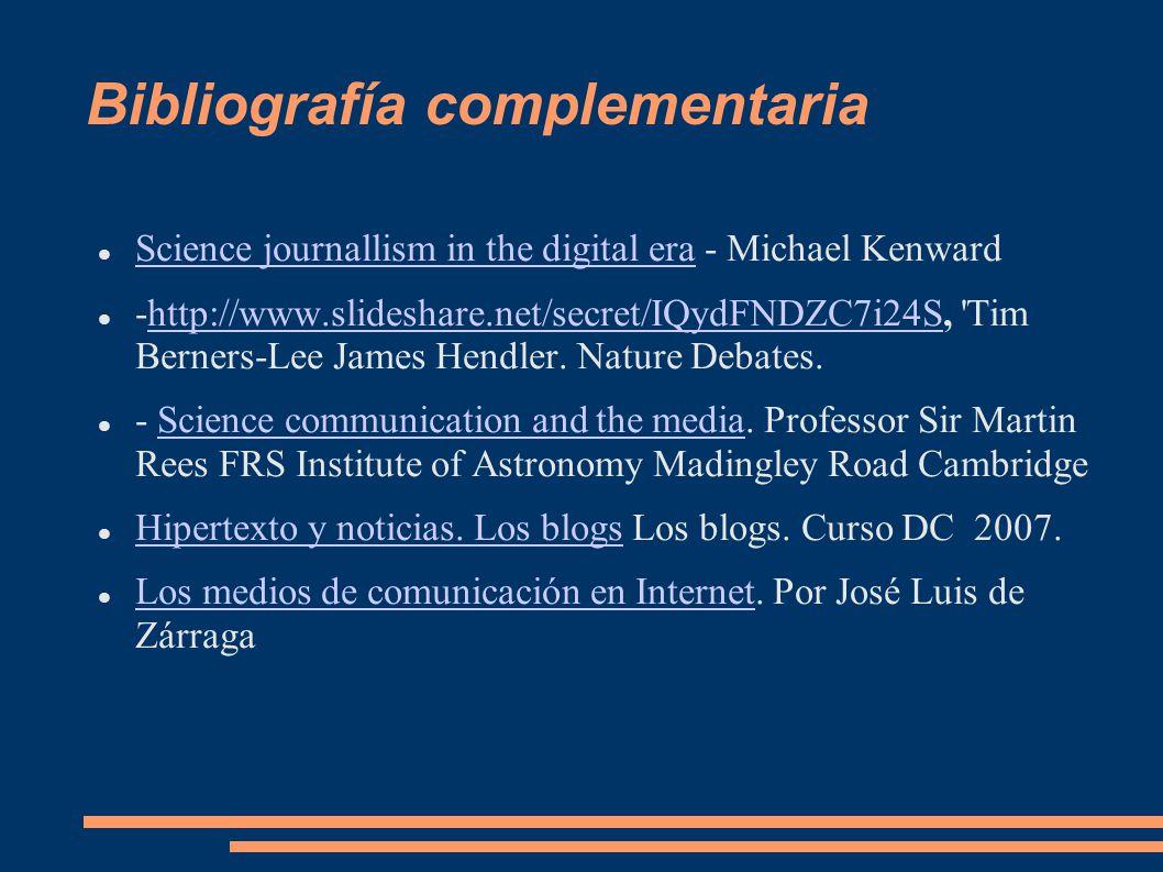 Bibliografía complementaria