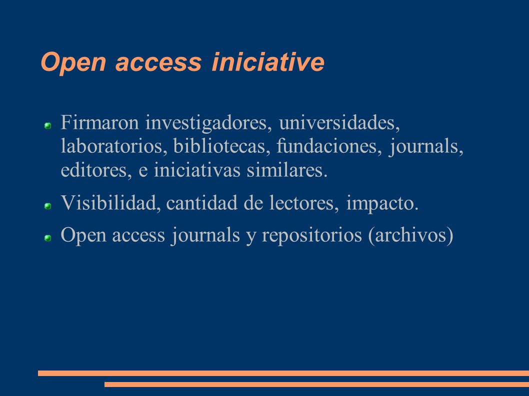 Open access iniciative