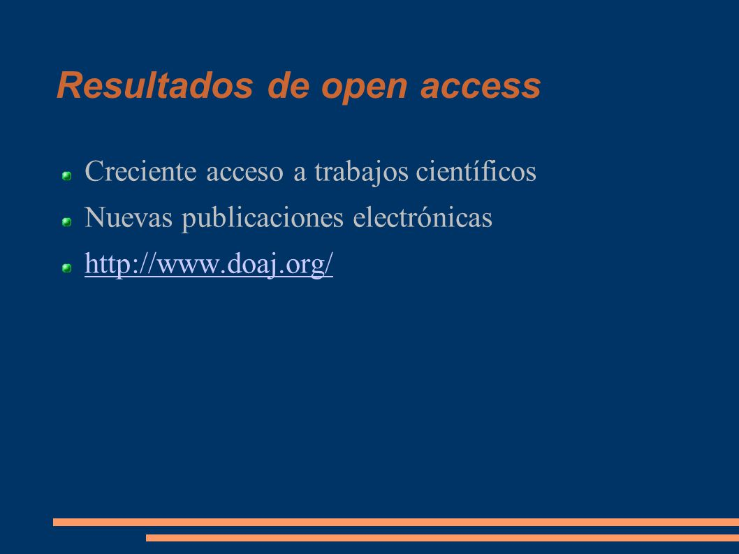 Resultados de open access