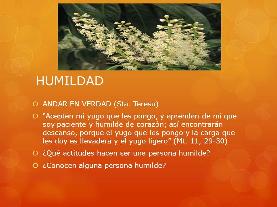 HUMILDAD ANDAR EN VERDAD (Sta. Teresa)