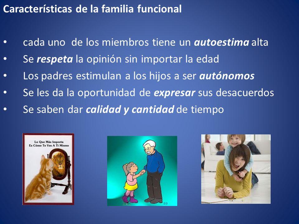 Características de la familia funcional