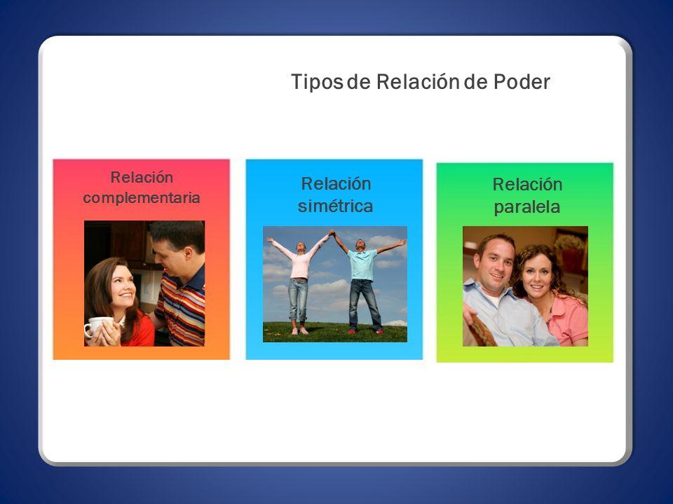 Tipos de Relación de Poder Relación complementaria