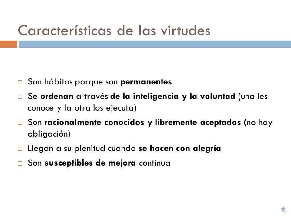 Características de las virtudes