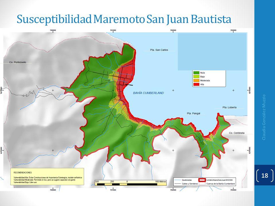 Susceptibilidad Maremoto San Juan Bautista