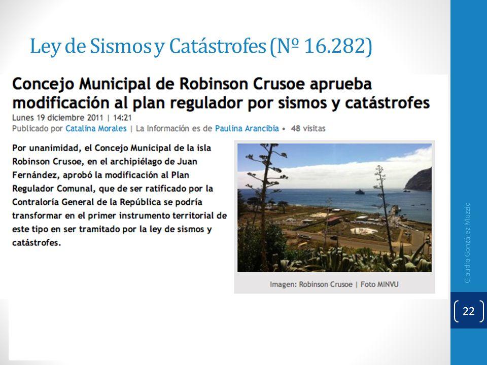 Ley de Sismos y Catástrofes (Nº 16.282)