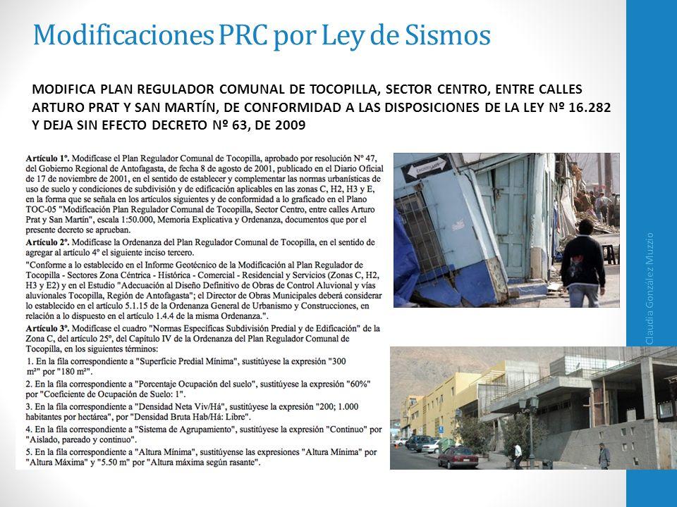 Modificaciones PRC por Ley de Sismos