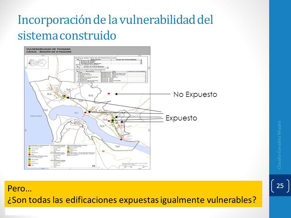 Incorporación de la vulnerabilidad del sistema construido