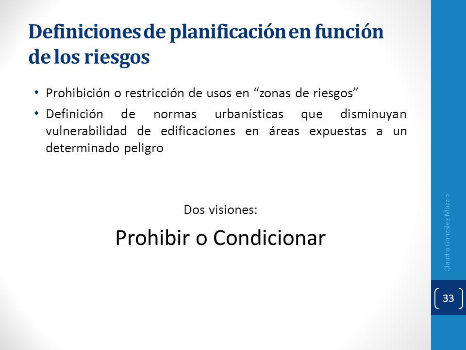 Definiciones de planificación en función de los riesgos