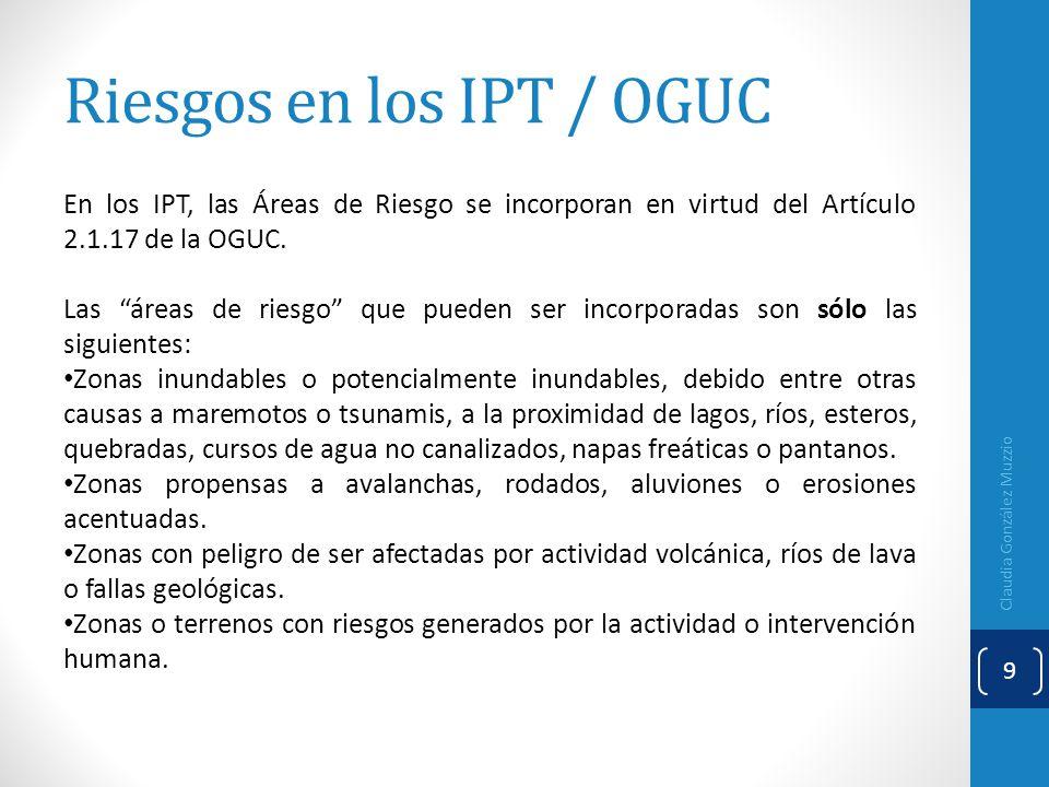 Riesgos en los IPT / OGUC