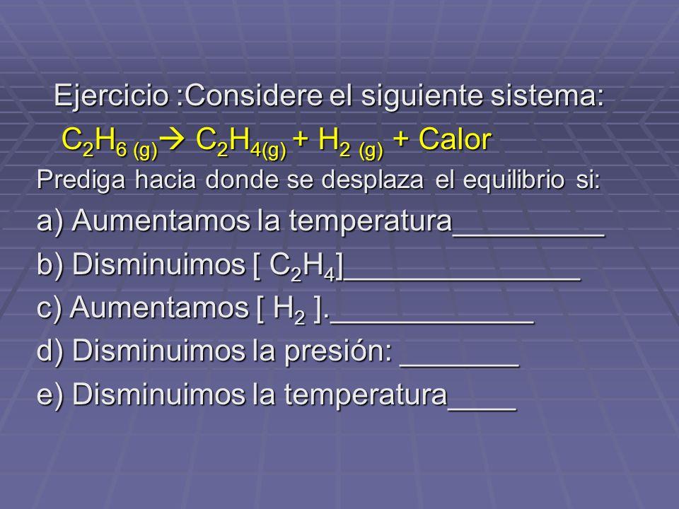 Ejercicio :Considere el siguiente sistema: