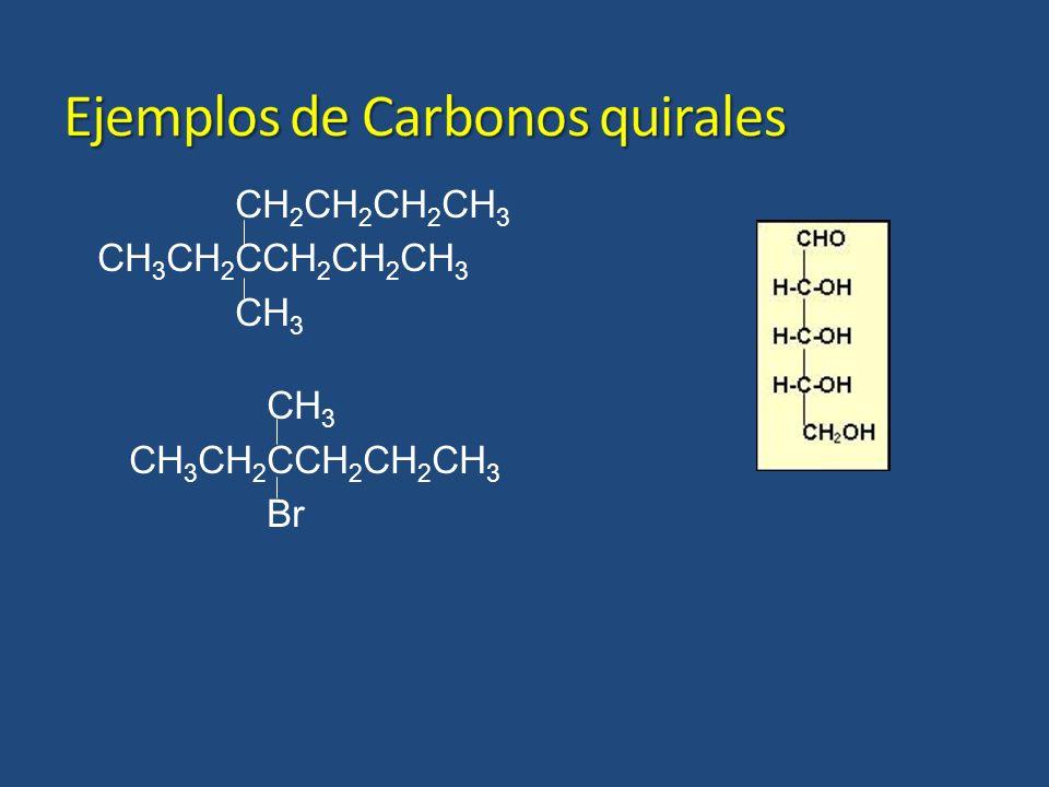 Ejemplos de Carbonos quirales