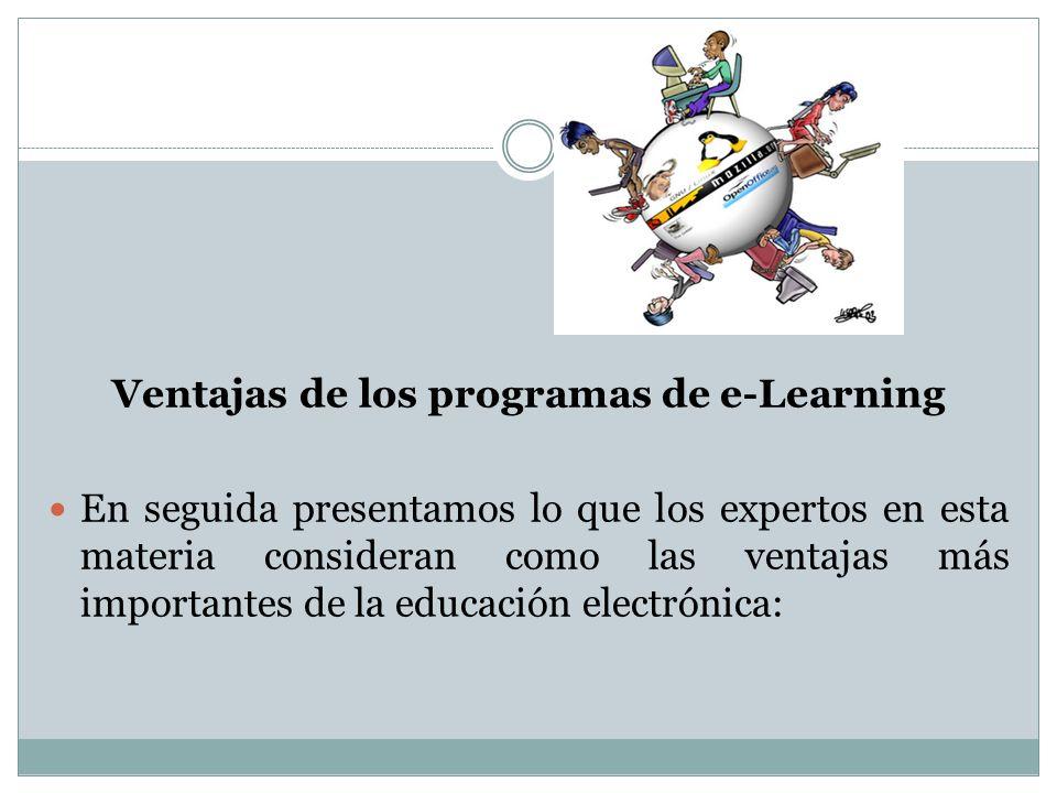 Ventajas de los programas de e-Learning
