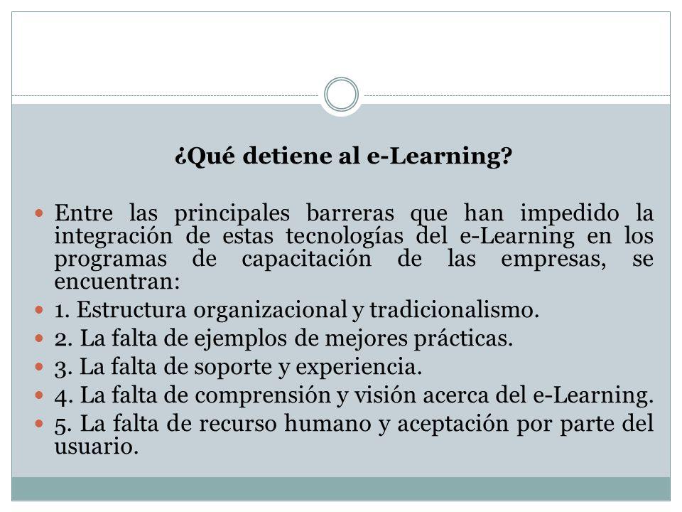 ¿Qué detiene al e-Learning