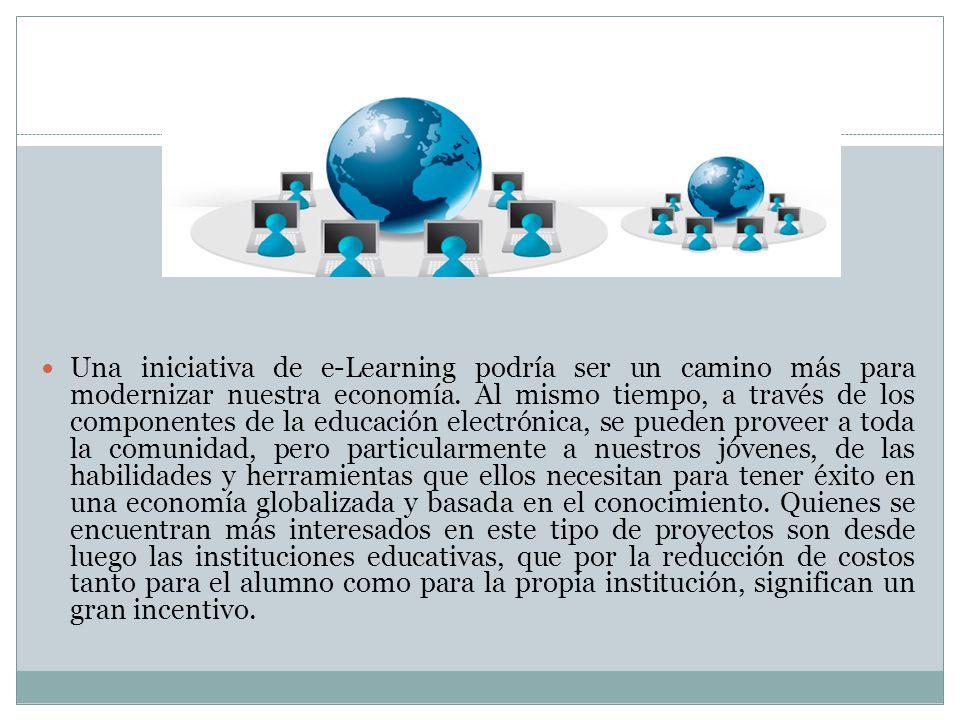 Una iniciativa de e-Learning podría ser un camino más para modernizar nuestra economía.