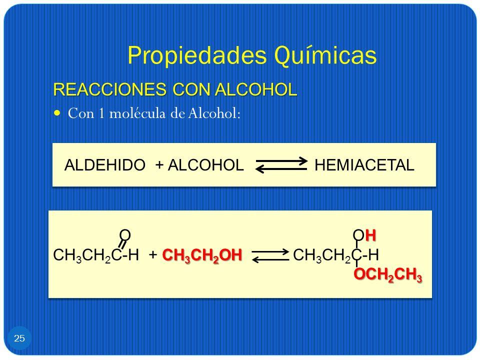 ALDEHIDO + ALCOHOL HEMIACETAL
