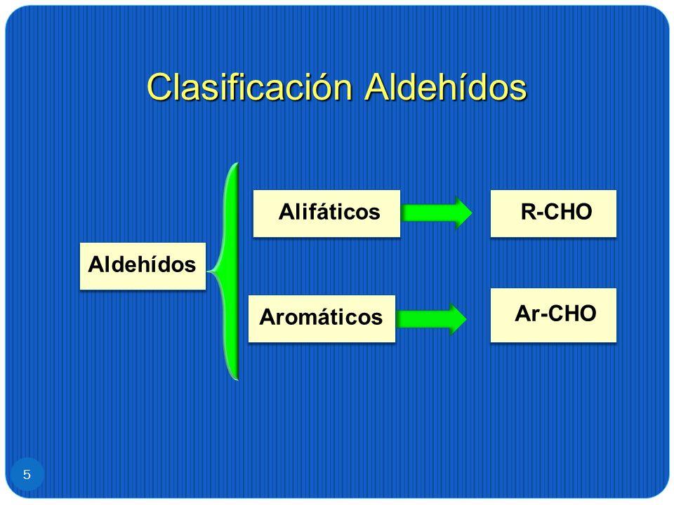 Clasificación Aldehídos