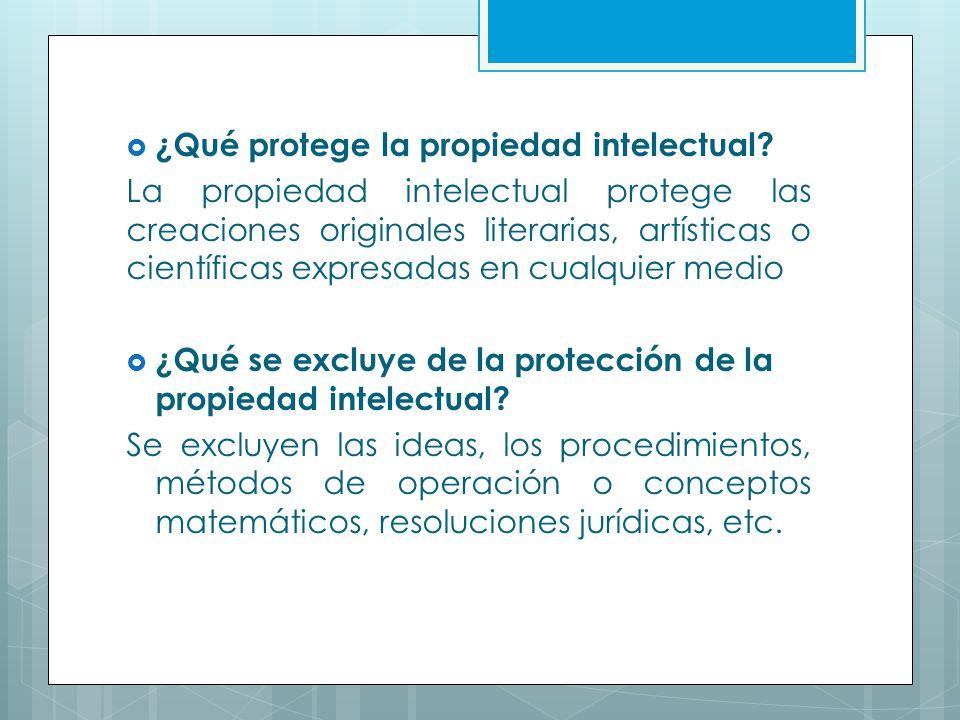 ¿Qué protege la propiedad intelectual
