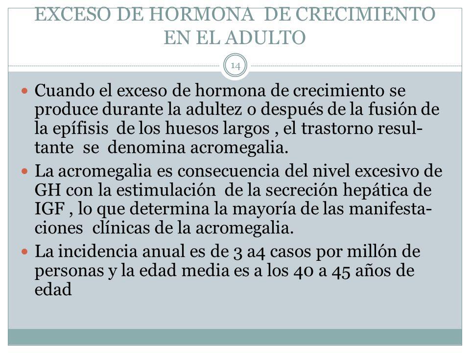 EXCESO DE HORMONA DE CRECIMIENTO EN EL ADULTO