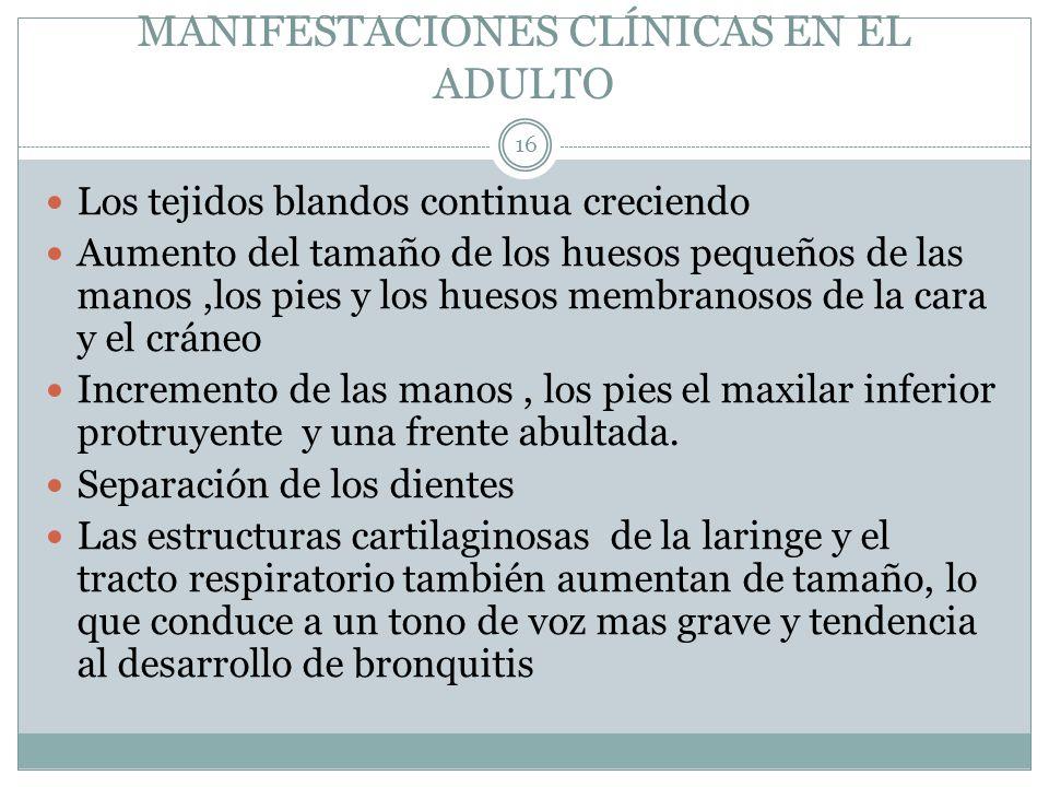 MANIFESTACIONES CLÍNICAS EN EL ADULTO