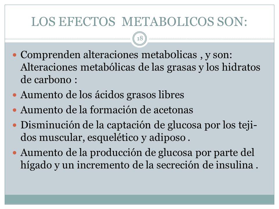 LOS EFECTOS METABOLICOS SON: