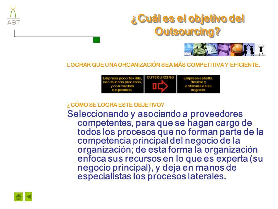 ¿Cuál es el objetivo del Outsourcing