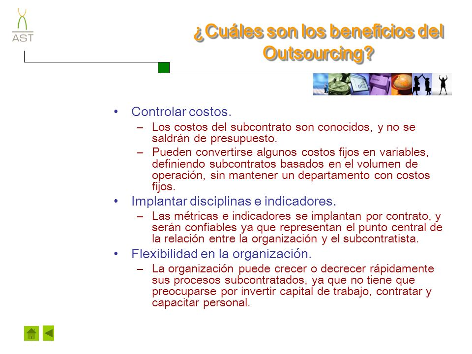 ¿Cuáles son los beneficios del Outsourcing