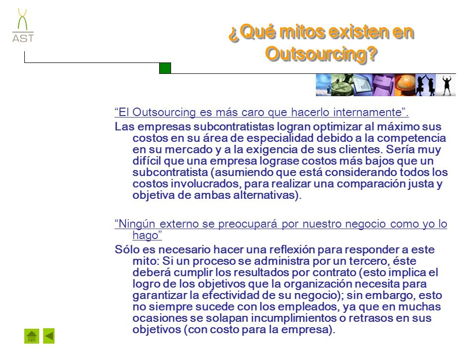¿Qué mitos existen en Outsourcing