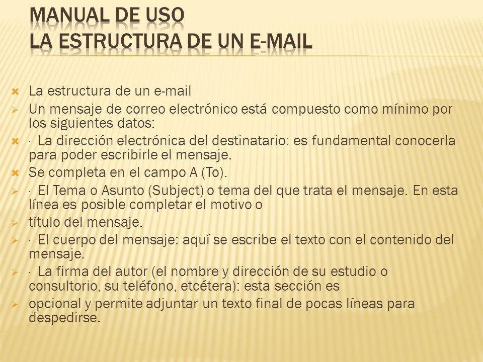 Manual de uso La estructura de un e-mail