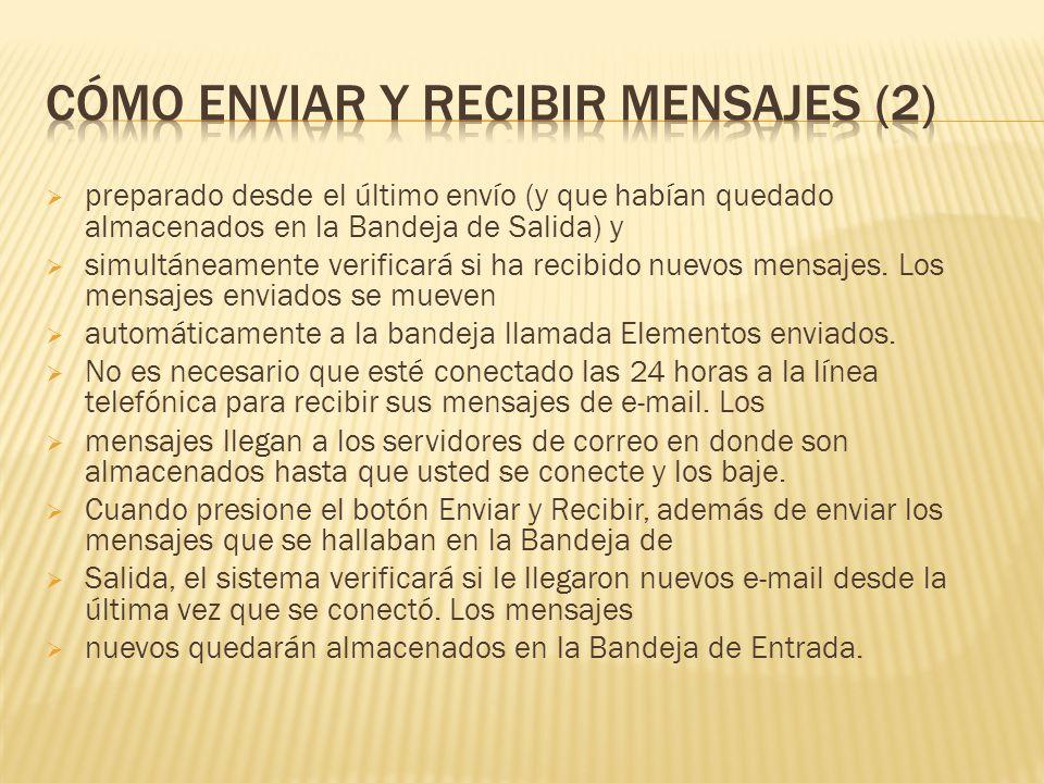 Cómo enviar y recibir mensajes (2)