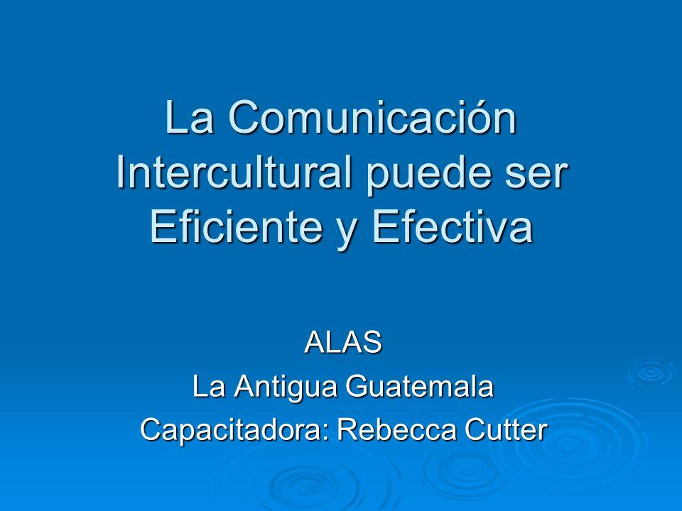 La Comunicación Intercultural puede ser Eficiente y Efectiva
