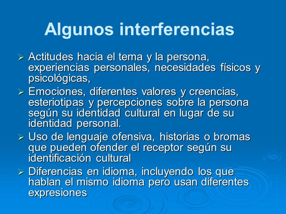 Algunos interferencias